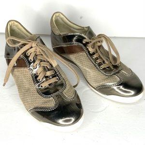 AGL, Metallic Cap Toe Lace Up Sneaker